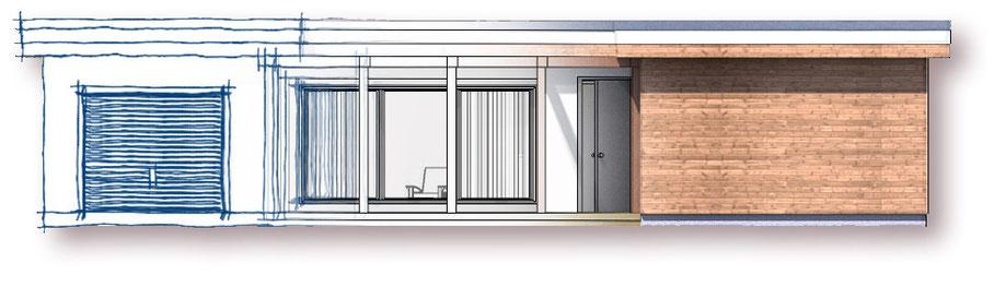 conception d'avant-projet architectural, maison individuelle, extension, veranda, annexe