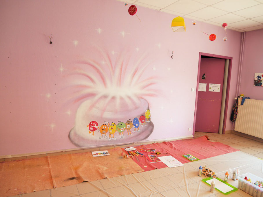 fresque-peinture-murale-gourmandise-enfant