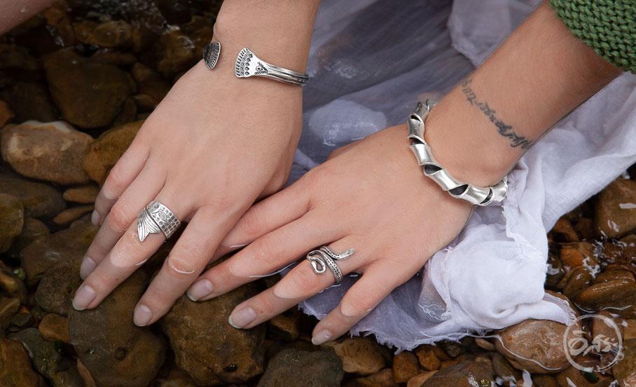bracelets ethniques en argent artisanat