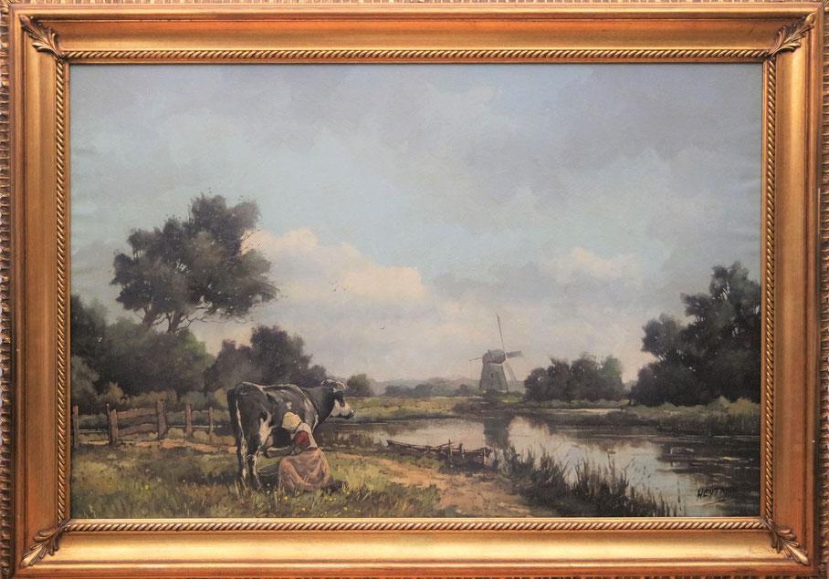te_koop_aangeboden_een_landschaps_schilderij_van_de_nederlandse_kunstschilder_willem_heytman_1950