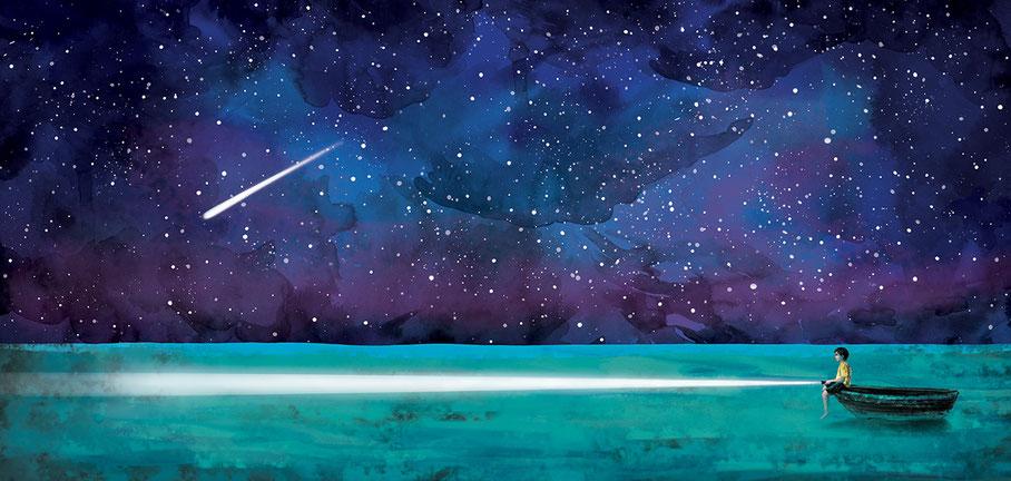 Ocean children's' book illustration, Ewelina Wajgert