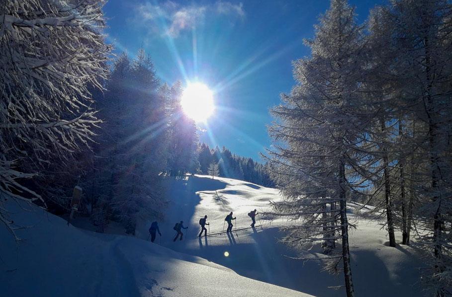 Start van de laatste tocht naar de Vennspitze in het Valsertal.