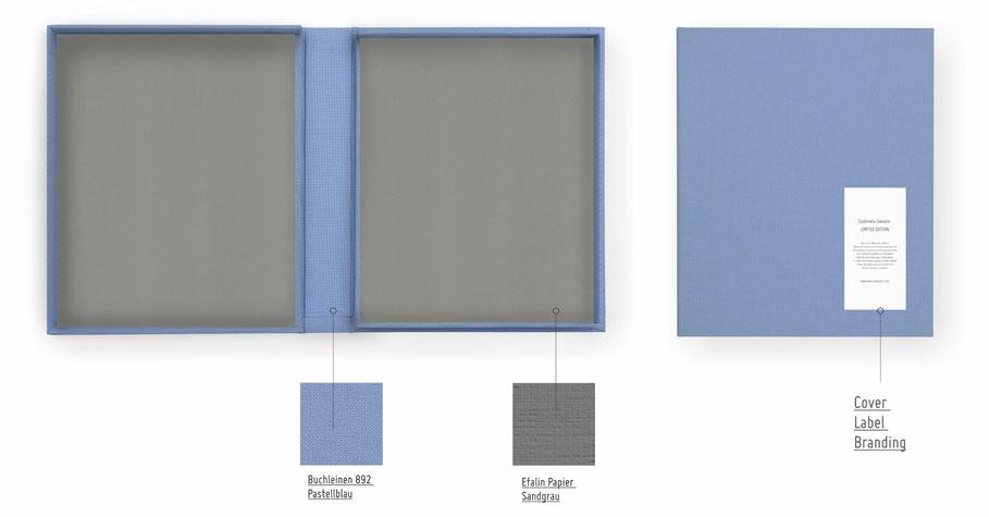 Fine Art Book, Fine-Art Print Portfolio, Buchleinen und Buchgewebe mit 57 Farben