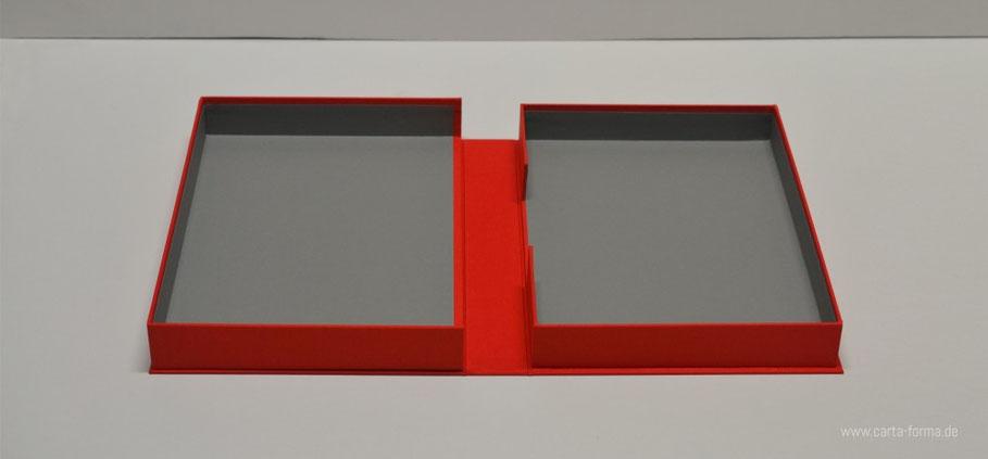 Präsentations Box, Mappe für Fotos und Fine Art Print, Archivbox, Bilderbox, Fotomappe, Fotobuch, Kunstmappe, Artbox, Buchbindung in allen Farben, Kunstbox, Farbige Portfoliobox DINA5, DINA3 Box, Box Buchleinenbindung