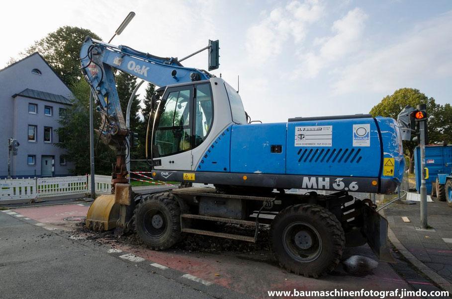Mehr zu diesem O&K MH 6.6 ist in dem neuen Baustellenbericht zu der Kanalsanierung der Lassallestraße zu finden!