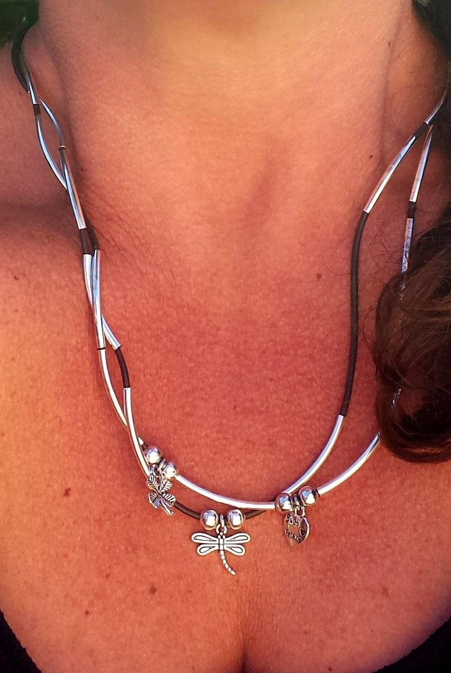 Bracelet transformable en collier et personnalisable fait main en France Manoléo fantaisies