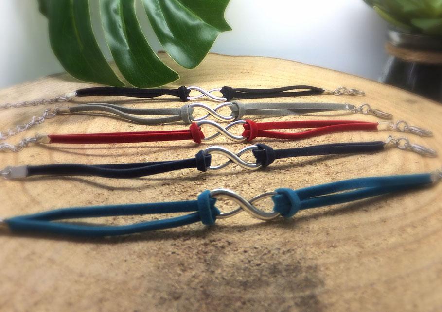 Bracelet infini, bracelet femme, bracelet ado, bracelet fait main