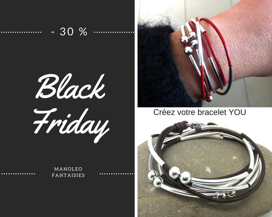 Black Friday, bijou bracelet créez votre bracelet personnaliser