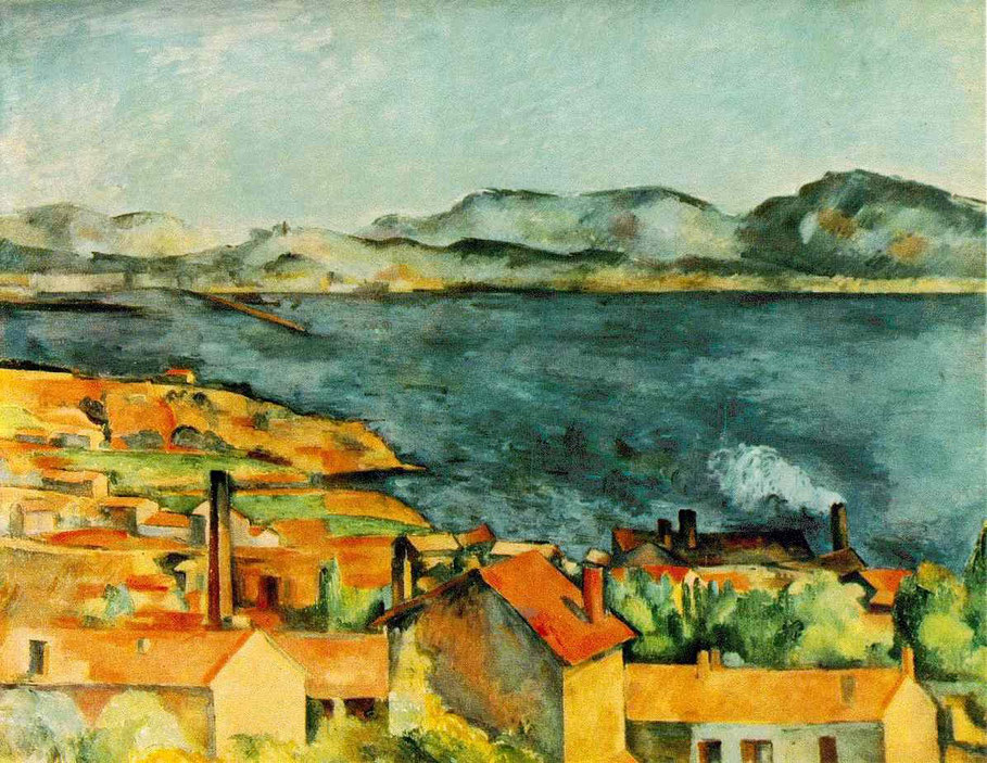 Paul Cézanne, La baie de l´Estaque. huile sur toile, 98 x 80 cm. 1886. The Art Institute, Chicago.