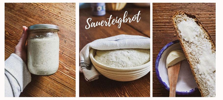 Sauerteig Fermentation zum Brot backen