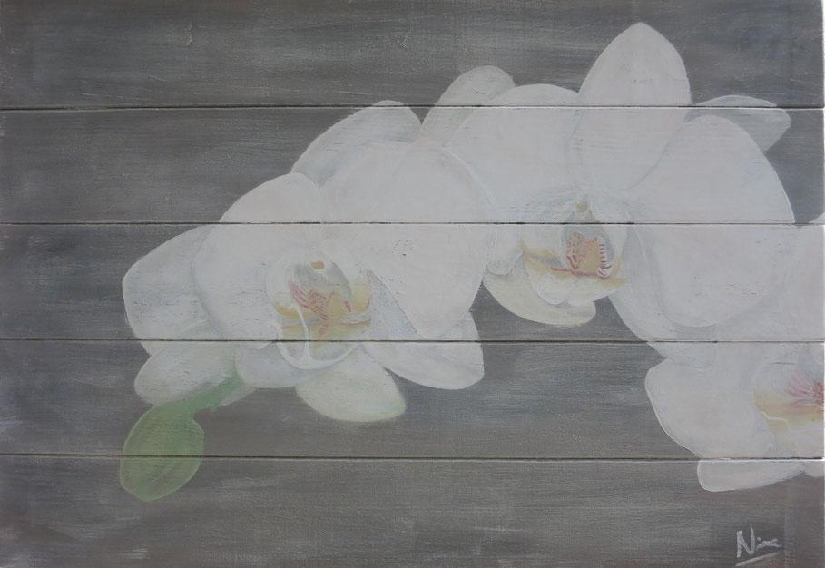 Gemalt in Kreidefarbe auf Holzbrettern, 70 x 49 cm, CHF 690.--