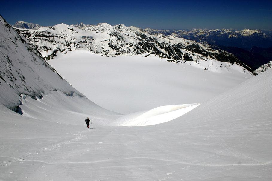 Abstieg vom Mont Blanc de Cheilon