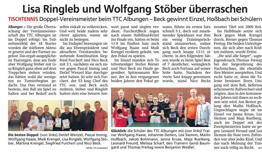 Artikel der Werra-Rundschau vom 22.01.2020