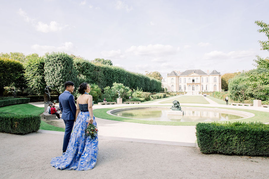 wedding in the Rodin museum