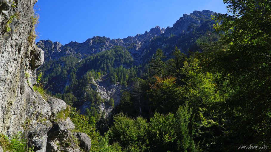 Berge bei der Burgruine Schalun bei Vaduz