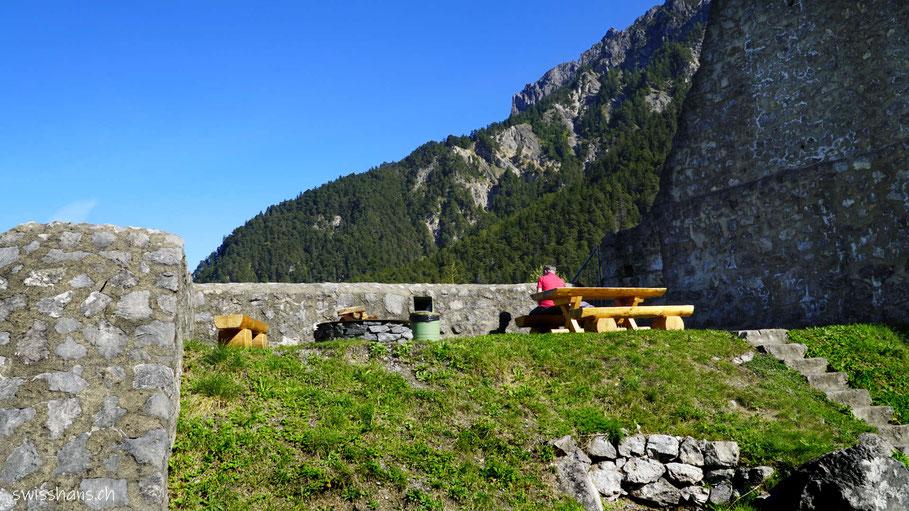 Grillplatz bei der Burgruine Schalung bei Vaduz