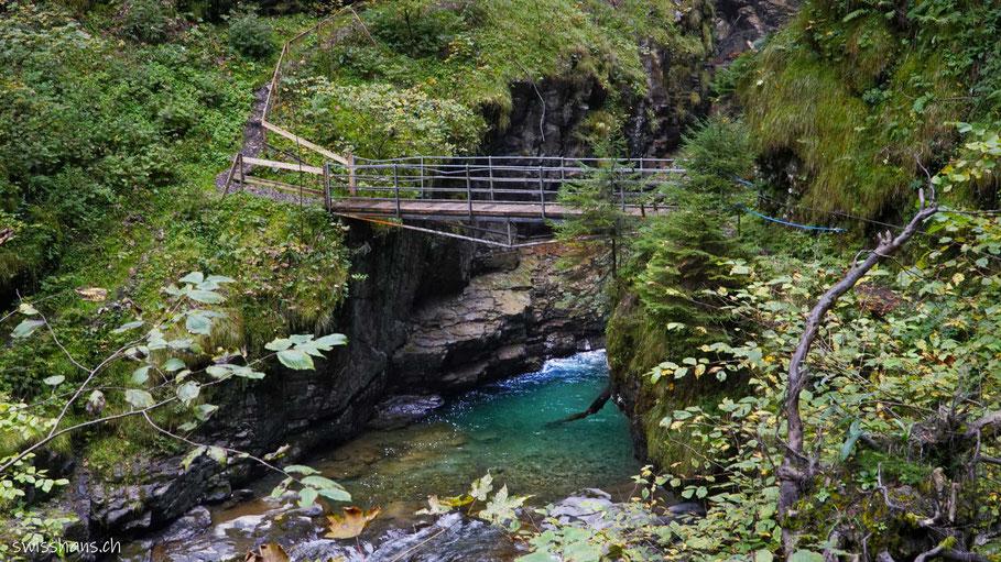 Brücke  in der Üblen Schlucht bei Laterns
