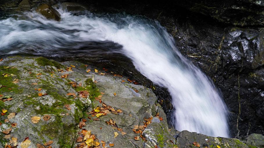 Wasserlauf in der Üblen Schlucht bei Laterns
