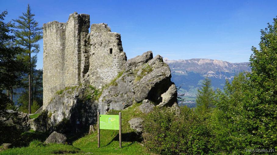 Wildschloss, Burgruine Schalun in Vaduz