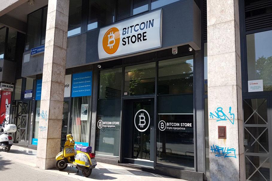 Der Bitcoin-Store von Außen
