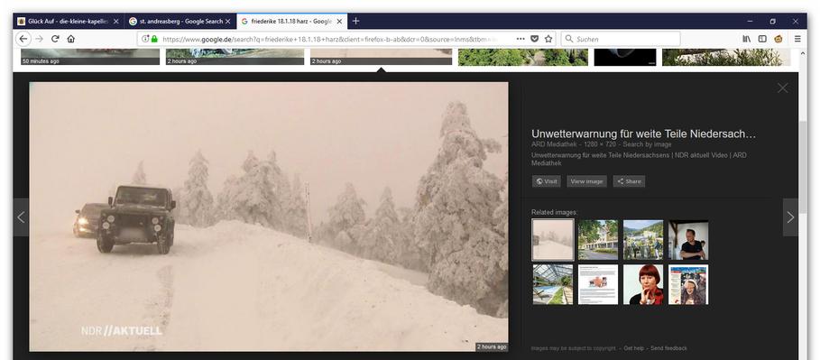 Schnee, wohin das Auge reicht zeigt dieser Screenshot © NDR//AKTUELL