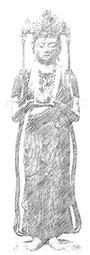 阿弥陀三尊の脇侍像