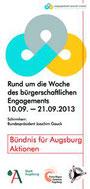 Freiwilligen-Zentrum Augsburg - Woche des bürgerschaftlichen Engagements 2013