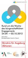 Freiwilligen-Zentrum Augsburg - Woche des bürgerschaftlichen Engagements 2012