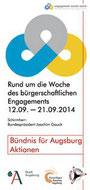 Freiwilligen-Zentrum Augsburg - Woche des bürgerschaftlichen Engagements 2014