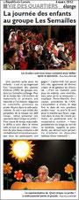 Spectacle donné à ELANGE - article de presse Républicain lorrain - LES GUIGNOLOS - 4 mars 2012