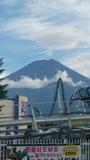 富士急ハイランドからも見える富士山