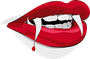 Roter Vampir-Mund