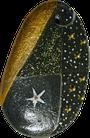Les Galets de Lyzzz - galet fêtes décoration à suspendre galet message