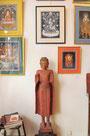 Bouddha debout, Cambodge, 19e siècle, bois laqué, Tangkas Newars, choix de Robert Beer, Nepal