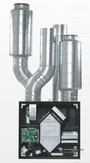 Lindab Silento 500 uitgerust met geluidsdempers op afvoer- en aanblaaskanalen.