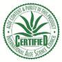 demandez le label de qualité I.A.S.C qui est le meilleur des labels de certification pour les produits a l'aloe vera.