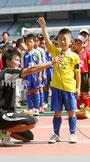 2013年8月の大会で奈良の丘JFCのキャプテンによる選手宣誓
