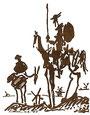 Don Chisciotte e scudiero visti da Picasso