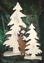Figuren, Elch, Engel, Nikolaus, Porzellan, Holz, Hirsch, Weihnachten, Dekoration, shabby chic, Landhausdekoration