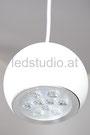 Bild: LED Pendeleuchte Kugel weiß