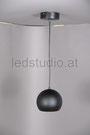 Bild: LED Pendeleuchte Kugel schwarz