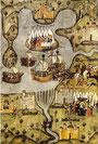 Mittelalterliche Karte der Levante