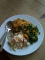 Gemüse, Reis, Mungbohnendal.