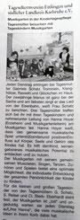 Artikel Amtsblatt Musikgarten
