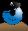 cyclopian pirate with eye patch