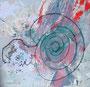 Einsamkeit ist wie ein Regen (Rilke)_80x80 cm_2014
