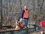 Grabenbau zur Entwässerung eines Kastens erforderlich