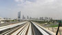 widok z okna 1 klasy metra w Dubaju