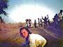 Niger 1975: méthode manuelle visiblement très énervante après la nième pratique