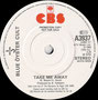 Take me Away (Radio Edit) / Take me Away - UK - Promo copy - B